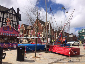 Bungee Trampolines at Burslem May Day Festival