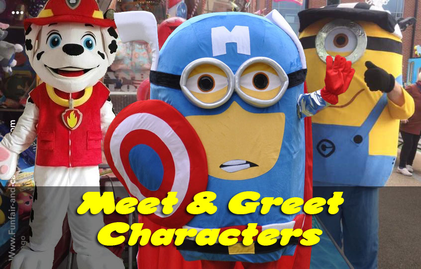 Meet and Greet Characters available at some of our events